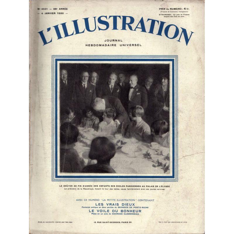 L'Illustration n° 4531 - 4 janvier 1930 - Le goûter de fin d'année des enfants des écoles parisiennes au Palais de L'Élysée