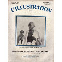 L'Illustration n° 4544 - 5 avril 1930 - L'Apôtre de la désobéissance civile aux Indes : Mahatma Gandhi