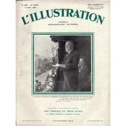 L'Illustration n° 4563 - 16 août 1930 - M. Poincaré inaugurant le monument aux morts de Chaillon, sur les Hauts de Meuse