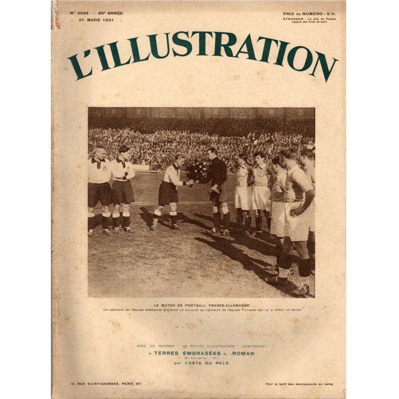 L'Illustration n° 4594 - 21 mars 1931 - Le match de football France-Allemagne