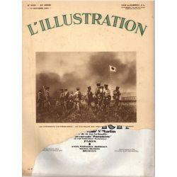 L'Illustration n° 4624 - 17 octobre 1931 - Les événements d'Extrême-Orient : un état-major des troupes japonaises devant Moukden