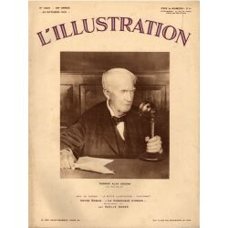 L'Illustration n° 4625 - 24 octobre 1931 - Thomas Alva Edison