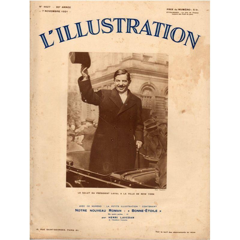 L'Illustration n° 4627 - 7 novembre 1931 - Le salut du Président Laval à la ville de New York