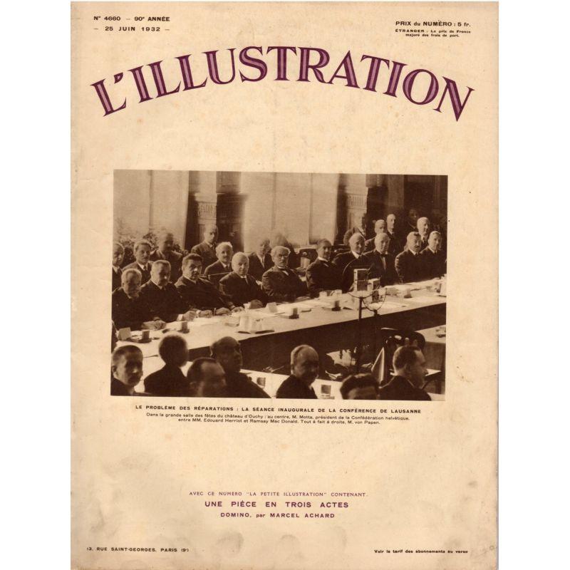 L'Illustration n° 4660 - 25 juin 1932 - Le problème des réparations : la séance inaugurale de la conférence de Lausanne