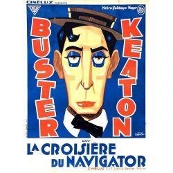 Affiche film La Croisière du Navigator (Buster Keaton)