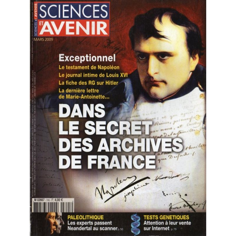 Sciences et Avenir n° 745 - Dans le secret des Archives de France