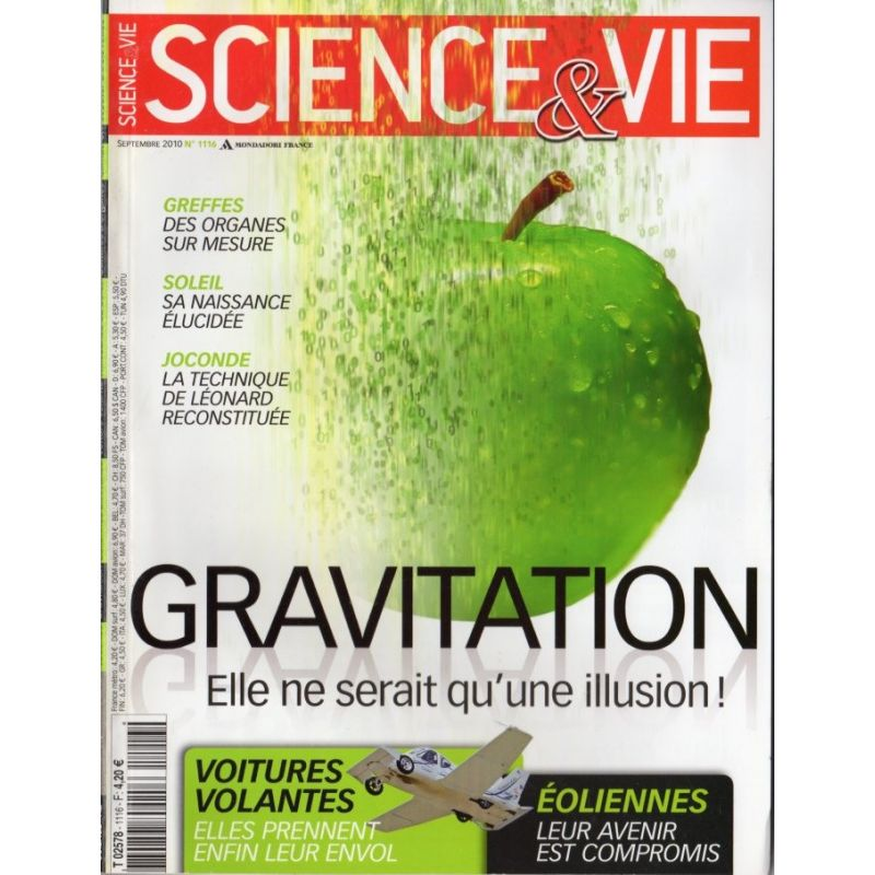 Science & Vie n° 1116 - Gravitation : Elle ne serait qu'une illusion !