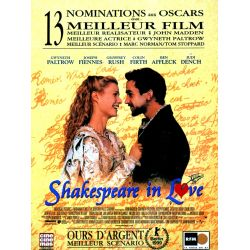 Affiche Shakespeare In Love (Gwyneth Paltrow, Joseph Fiennes) - DVD Zone 2