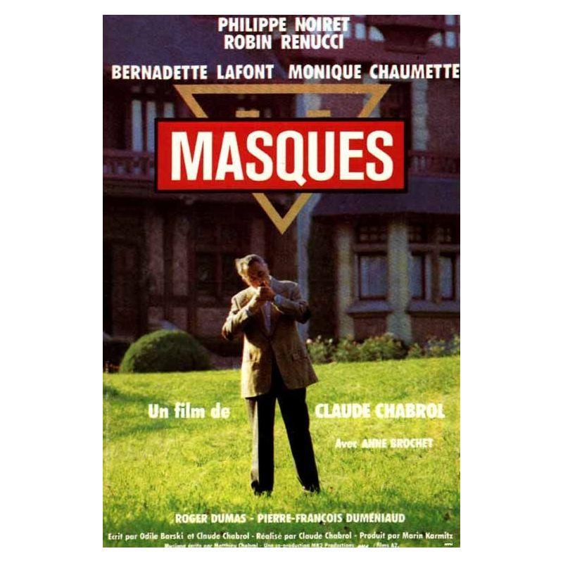 Affiche Masques (de Claude Chabrol)
