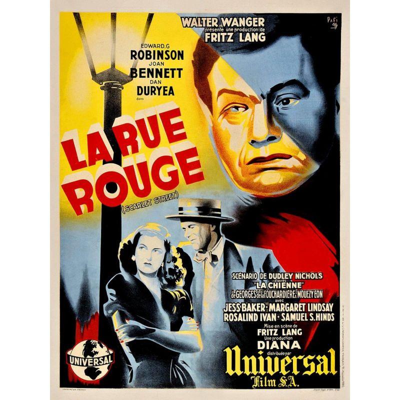 Affiche La Rue Rouge (de Fritz Lang)