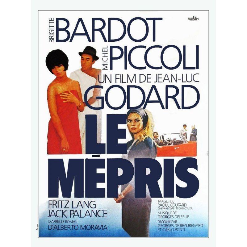 Affiche Le Mépris (de Jean-Luc Godard)