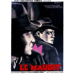 Affiche M le Maudit (de Fritz Lang)