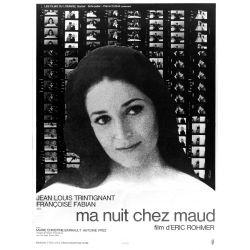 Affiche Ma Nuit chez Maud (de Eric Rohmer)