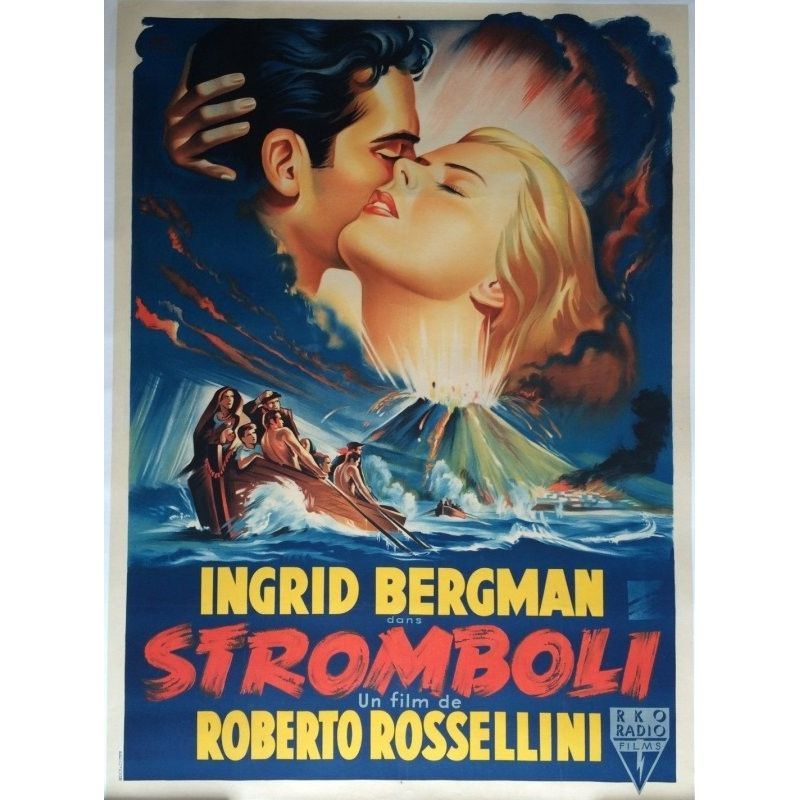 Affiche Stromboli (de Roberto Rossellini)
