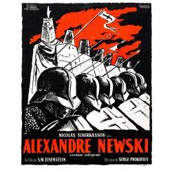 Affiche Alexandre Nevski (de S.M. Eisenstein)