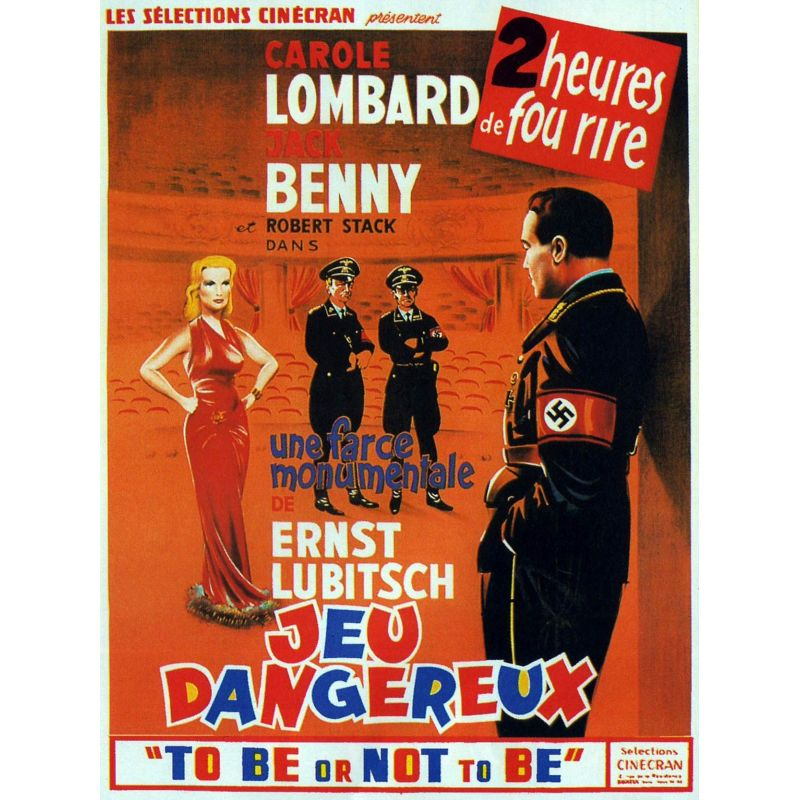 Affiche To Be or Not to Be - Jeux dangereux (de Ernst Lubitsch)