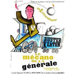 """Affiche Le Mécano de la """"Général"""" (de Buster Keaton)"""