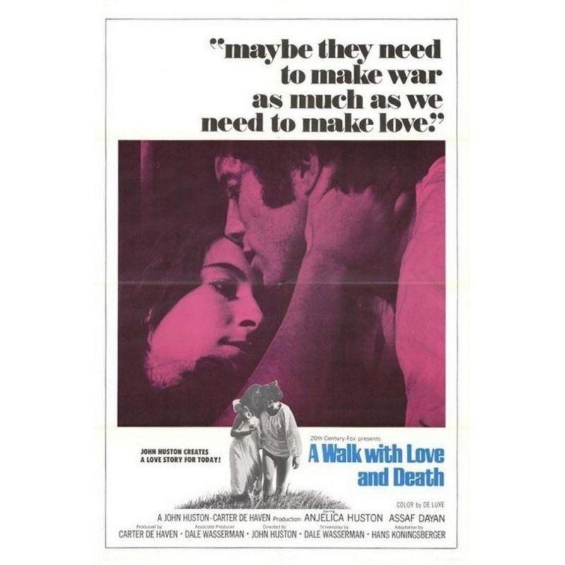 Affiche Promenade avec l'Amour et la Mort (de John Huston)