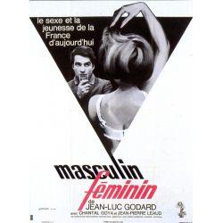 Affiche Masculin Féminin (de Jean-Luc Godard)