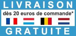 Port Gratuit en France, Belgique, Luxembourg, Pays-Bas dès 20 euros de commande
