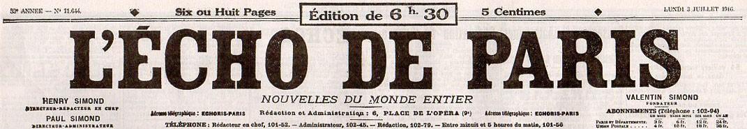 Echo de Paris (L')